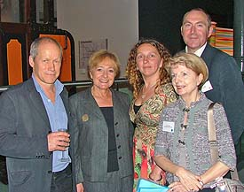 Culture24 staff and trustees with Margaret Hodge at the recent celebration